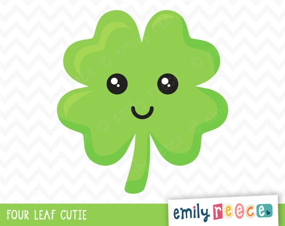 Four Leaf Clover Lucky St Patrick's Day Cute by ...