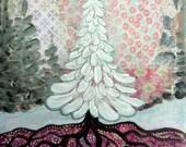 Joy under the tree - Art Print 21 x 30 cm/ 8.3 x 11.8 in