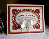 """Stampin up! / Spellbinders - Handmade """"Christmas in the Heart... """" card NEW"""