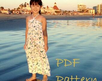 Braided Rachel Dress PDF Pattern, Tutorial, Ebook, Epattern, Girls Sizes 6-16