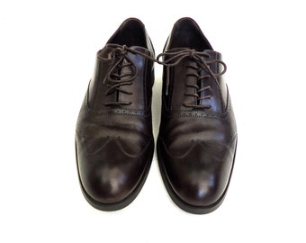 Mens Armani Dark Chocolate Wing Tip Shoe Size 9 US
