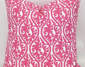 Hot Pink Throw Pillow  MANY SIZES  Kimono Candy Pink, Premier Prints,  FREESHIP