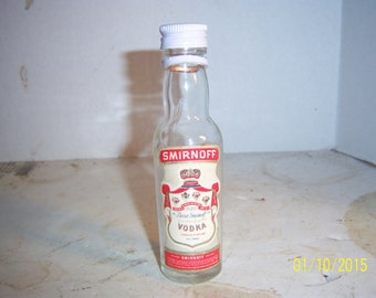 "1950's Smirnoff Vodka Ireland Clear Whiskey nip  liquor 5""  bottle"