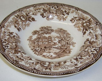 Royal Staffordshire TONQUIN Clarice Cliff 7 3/4 Inch Low or Flat Soup Bowl