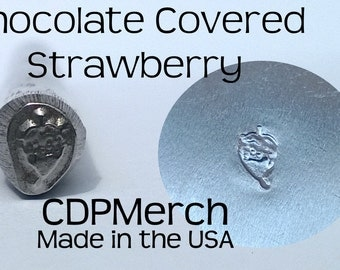 Chocolate Covered Strawberry Metal Design Hand Stamp CDPMerch Metal Jewelry Punch