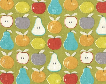 Moda - Garden Project by Tim and Beck Mixed Fruit in Green Apple 39551-16 by the Yard