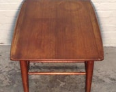 Mid-Century Danish Modern End Table / Nightstand - Bassett Artisan Surfboard - Mad Men / Eames Era Decor * SHIPPING NOT INCLUDED *