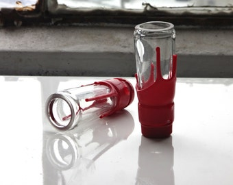 Makers Mark Glass Shooter - Up Cycled Shot Glass From Makers Mark Bottle - Set of Two