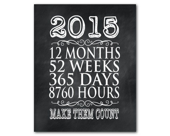 1 Year 12 Months 52 Weeks 365 Days Quotes: Items Similar To Inspirational Wall Art