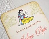 Snow White Invitation