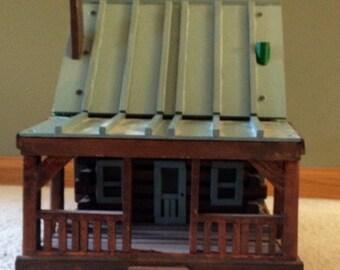 Rustic Model Log Cabin