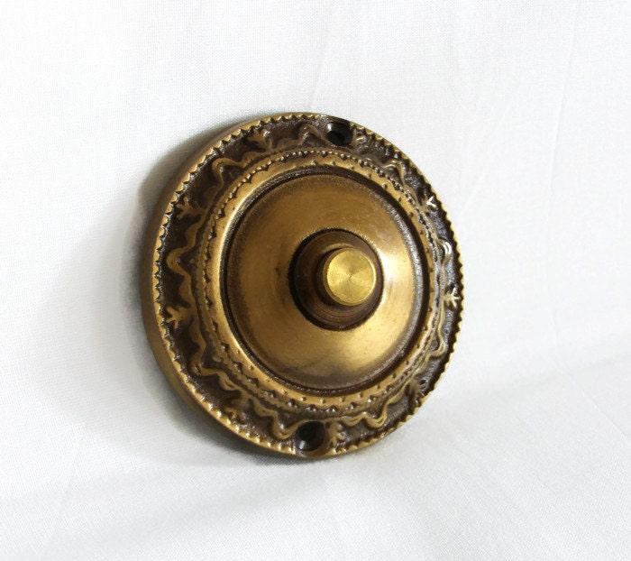 Ding dong bouton poussoir sonnette solide rond laiton - Bouton poussoir pour sonnette ...