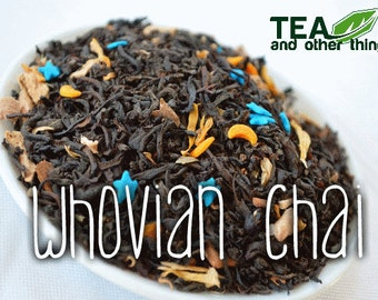 50g Whovian Chai - Loose Black Tea (Doctor Who Inspired)