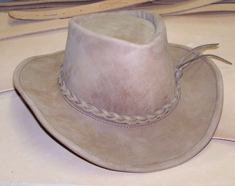 HAND MADE LEATHER Hat~Western~Casual~Made to Fit!
