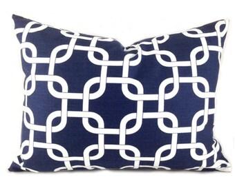 Lumbar Pillow Covers Decorative Pillows Navy Pillow Premier Prints Gotcha Navy Blue