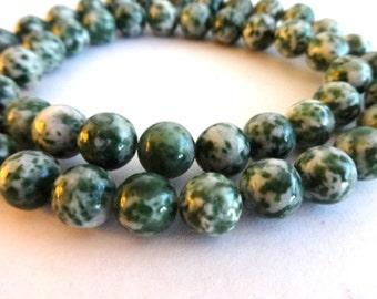 8 mm Tree Agate Semi Precious Gemstone Beads