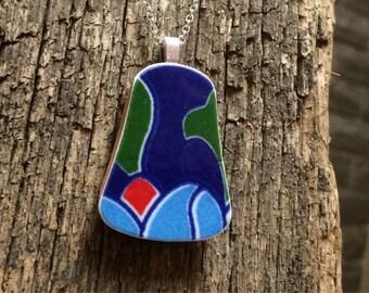 """Medium terracotta pendant """"Dawn"""""""