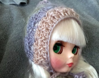 Pixie Hat for Blythe Doll.  Choose your colorway Shown in Springtime Clothes Crochet Outfit