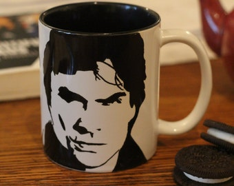 Ian Somerhalder, The Vampire Diaries, TVD, Damon Salvatore Mug, Hand Printed Mug