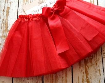 Red TuTu, Baby TuTu with matching bow, Toddler Tu Tu, Ballerina Tu Tu, Baby Tu Tus, Tutus, Baby Tutus