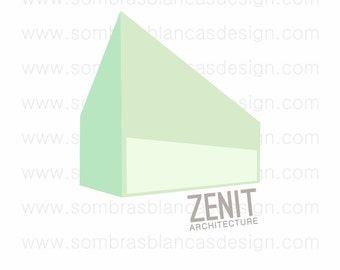 OOAK Premade Logo Design - Modern Building - Perfect for and architecture studio