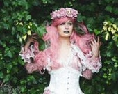 BLUSH ROMANTIQUE Lace Jacket Romantic Victorian Vintage   Lolita  Gothic Wedding Bridal By Ophelias Folly