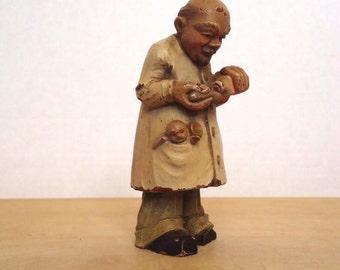Vintage 1950's ANRI Toriart Pediatrician (Baby Doctor) Doctor Figurine