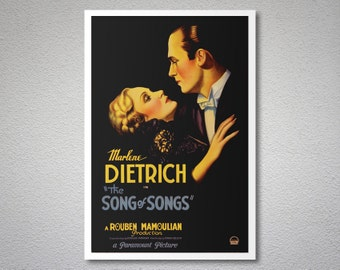 The Song of Songs Movie Poster - Marlene Dietrich - Poster Paper, Sticker or Canvas Print
