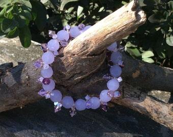 Swarovski Crystal and Glass Stretch Bracelet
