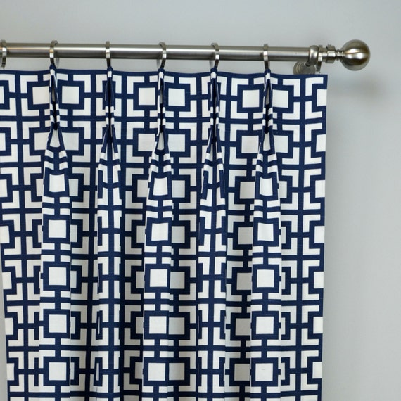 Items similar to Navy Blue White Modern Sqares Gigi Geometric ...