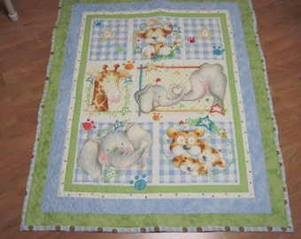 Baby Animals Quilt for Baby and Toddlers