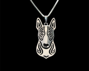 Bull terrier - sterling silver, dog jewelry - pendant and necklace