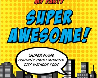 Superhero THANK YOU • 4.5 x 6.25 Cards