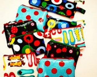 Wallet made of waterproof fabric in different cheerful and colorful imopresiones