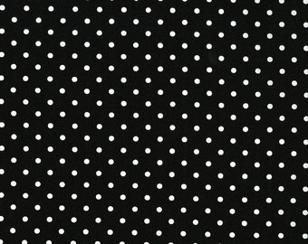 Black and White Polka  Dot Basic by Timeless Treasures