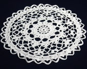 round crochet doily white small