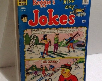 Vintage Archie Comic (4) - Reggie's The Wise Guy Jokes collectible