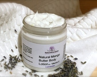 Natural Moisturizer, Organic Lavender Lotion, Vegan Lavender Hand and Body Lotion