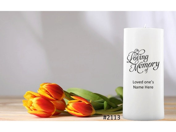 Sympathy Gifts Personalized Candles to pay tribute to a