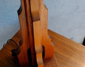 Art Deco Lamp ~ Original ~Deco Skyscraper~ Art Deco Table Lamp, Solid Walnut