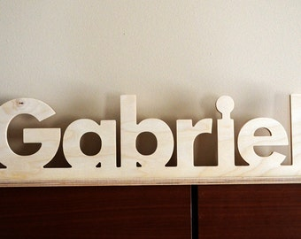 Wooden Name Sign - Wood Word Sign - Custom Word Sign - Free Standing Letter Sign - Wall Letter Sign - Wooden Letter for Nursery