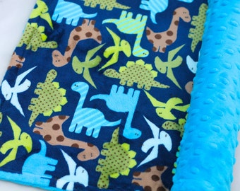 On Sale!**Dinosaur Minky Baby Blanket-Baby Boy-Baby-Urban Zoologie-Choose Your Own Minky-Double Sided Minky Blanket