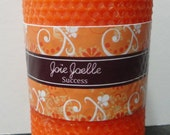 Clearance Sale Success Orange Pillar  Spell Ritual Candle, Altar Candle, dressed candle, spritual candle