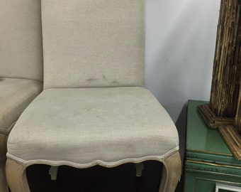 Upholstered french side chair