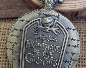 1pcs 45mmx45mm  Bronze color Christmas Gift pocket watch charms pendant PW069