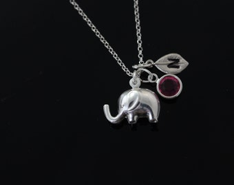 Elephant Necklace, Sterling silver Elephant Pendant lucky Necklace, Cool Elephant Necklace