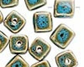 Blue Ceramic Beads 8mm Cube Porcelain Glaze Square Shaped Wholesale Jewelry Supply CrazyCoolStuff