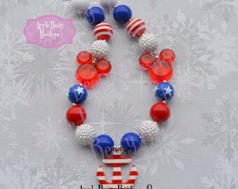Disney CRUISE necklace Anchor Necklace Disney Cruise bubblegum necklace Disney cruise chunky necklace SAIL away chunky necklace