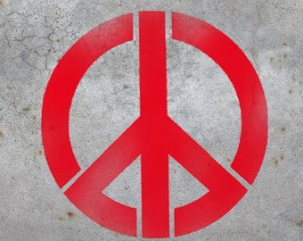 Peace sign wall art stencil, home decor peace sign stencil, wall art stencil, many sizes XS-XL, reusable art craft stencil