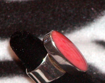 Vintage Sterling Silver Ring With Carnelian
